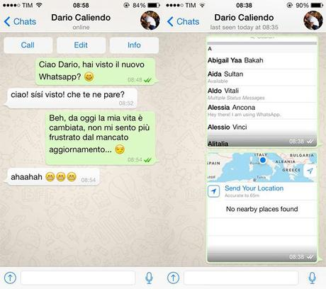 Il nuovo Whatsapp per iOS7 è disponibile al download!