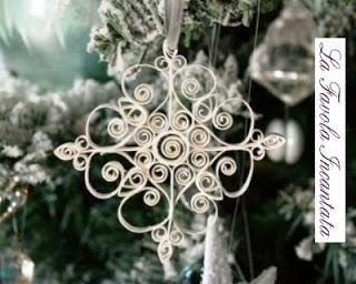 Fiocchi di neve quilling per Natale