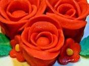 Buon compleanno nonna: torta rose rosse
