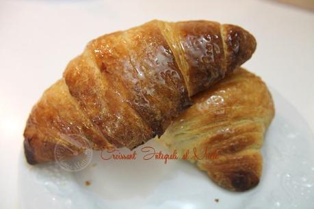 croissant integrali con pasta madre al miele