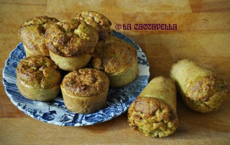 Muffin integrali salati con carote e broccoli [Savory wholemeal with carrots and broccoli]