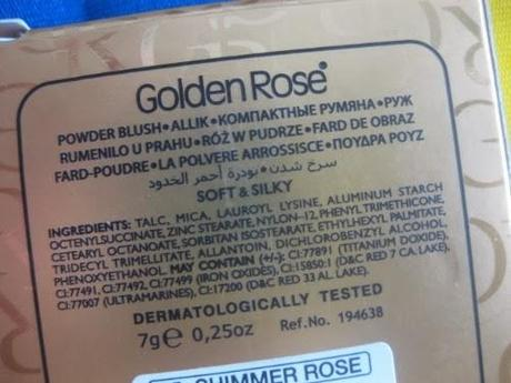 GOLDEN ROSE, Powder Blush Soft&Silky [recensione]