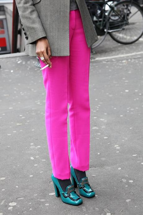 In the Street...Fuchsia Desire...Man Fashion Week, Milan