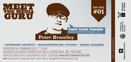 Save the Date: 4 febbraio 2011 Peter Brantley