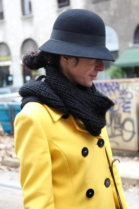 In the Street...Black and Yellow...Viale Piave, Milan