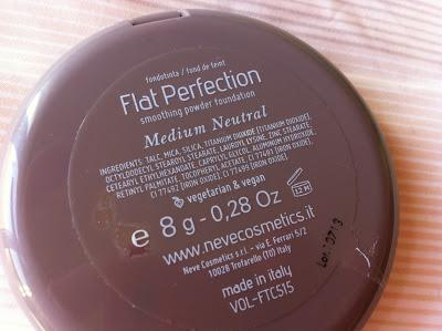 Fondotinta FLAT PERFECTION di NEVE COSMETICS: review