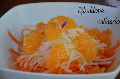 Insalata di carote e daikon al mandarino