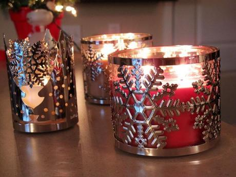 christmas-decor-holiday-candles-with-sleeves-snowflakes-and-christmas-trees