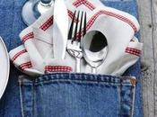 jeans diventa tovaglietta tavola