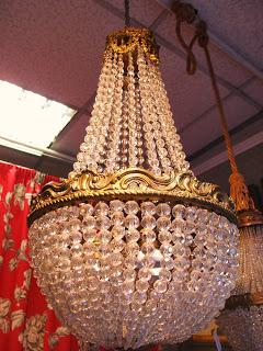 lampadari bronzo : lampadari a mongolfiera in cristallo e bronzo