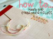 D.I.Y hand embroidery floss