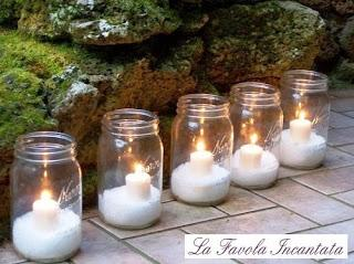 Candele di natale mooolto chic paperblog - Decorare candele per natale ...