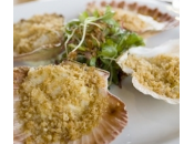 Ricette pesce: capesante gratinate brandy