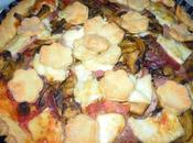 Crostata salata funghi, speck formaggio