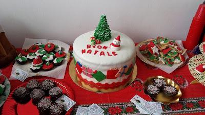 Torta di natale decorata con pasta di zucchero paperblog - Decorazioni torte di natale ...