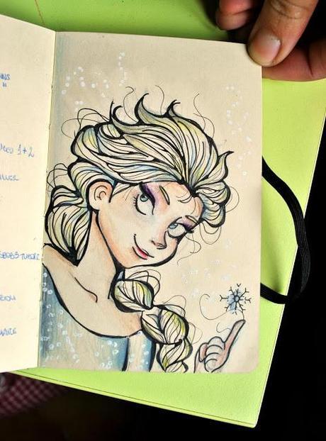 Frozen hairstyle paperblog for Disegnare elsa frozen