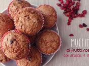 Muffin frutti rossi profumo arancio speziati