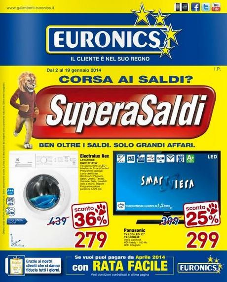 Volantino euronics supera saldi con tantissimi prodotti in for Papino arreda catalogo