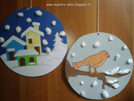 Addobbi invernali paperblog for Addobbi di natale per bambini scuola infanzia