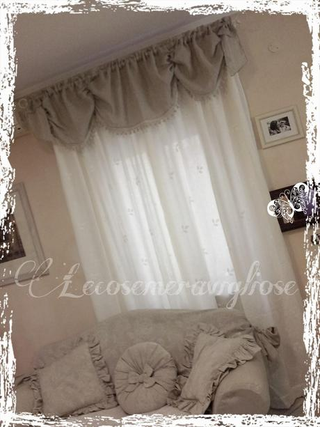 Tende cuscini e complementi creativi country e shabby chic paperblog - Tende bagno country ...