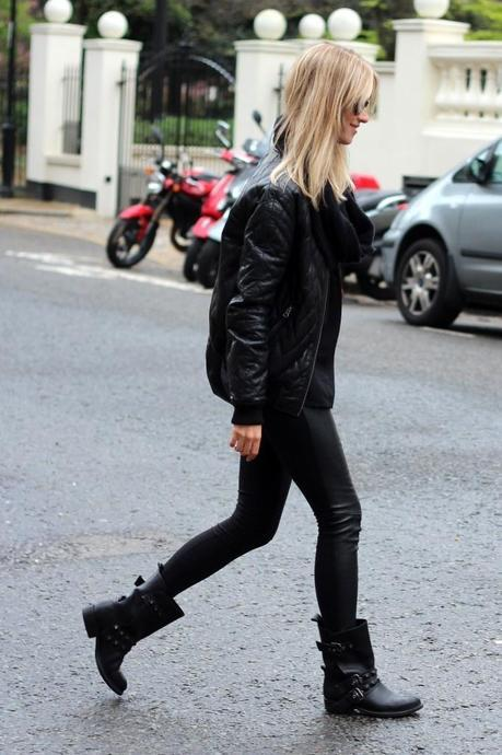 Biker boots and quilted bomber = perfect combination #SuccessfullyStyled
