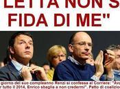 Renzi attacca Letta: 'non fida