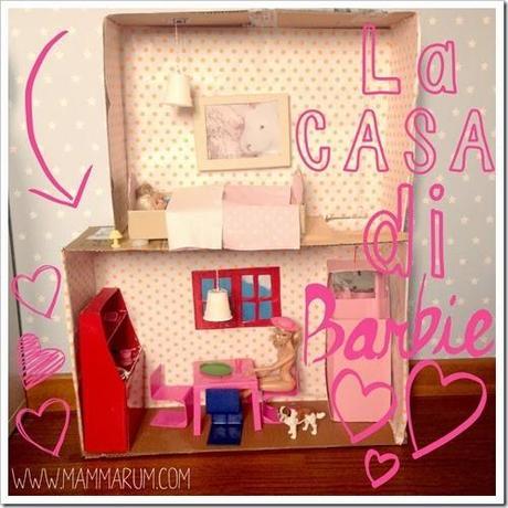 Casa di barbie fai da te con il cartone paperblog for Casa barbie fai da te legno