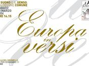 NEWS. Europa versi: Festival poesia quarta edizione