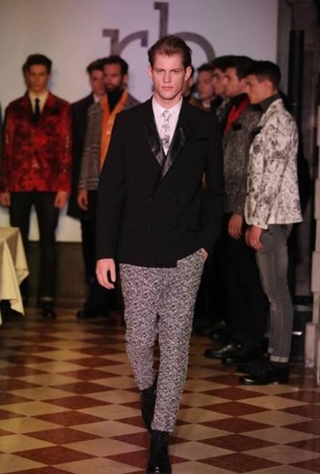 model sven stoop roccobarocco milano fashion week 2014