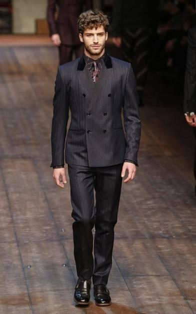 tom morell in dolce e gabbana milano fashion week 2014