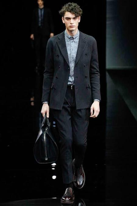 model toma panic for giorgio armani fashion week 2014