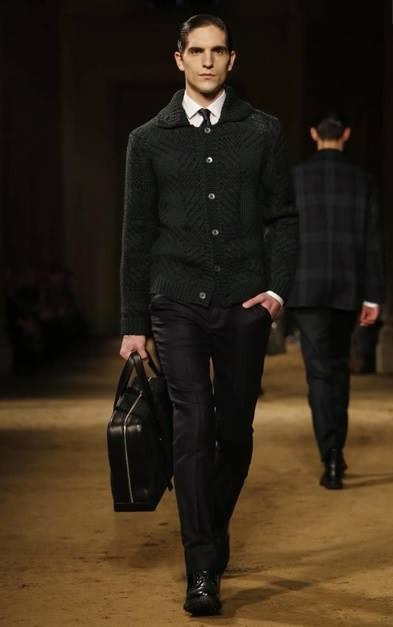 model rodolphe zanforlini corneliani mfw 2014 fashion week milano