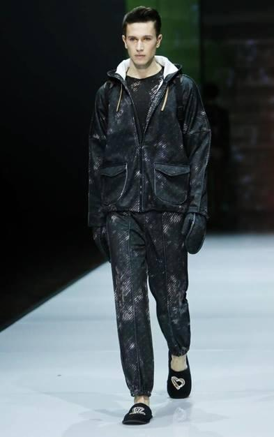 model victor gorincioi in julian zigerli mfw 2014 fashion week milano