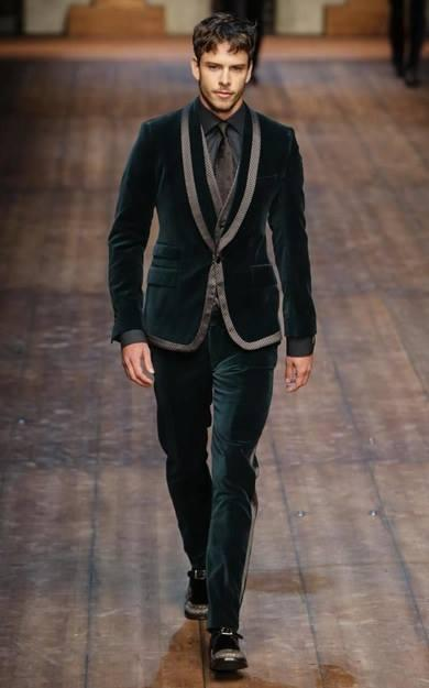 model ricardo figuereido in dolce & gabbana 2014 milano fashion week