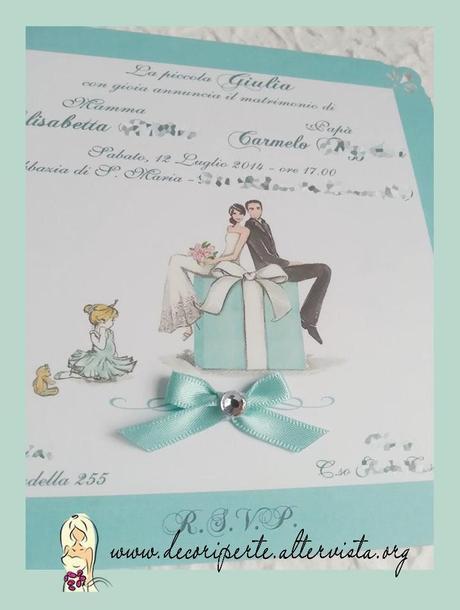 Partecipazioni Matrimonio Color Tiffany.Partecipazioni Matrimonio Tiffany Tiffany Wedding
