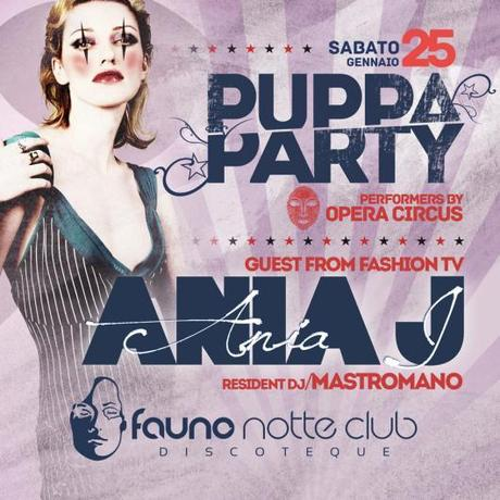 25/1 Ania J (from Fashion Tv) + Puppa Party @ Fauno Notte Club Sorrento