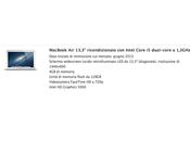 MacBook 13,3″ ricondizionato Intel Core dual-core 1,3GHz soli Euro Apple Store