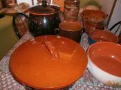 cucina nelle pentole terracotta