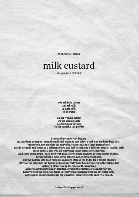 Milk custard // Crema di latte
