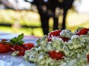Spatzle verdi alla fonduta parmigiano pomodorini confit