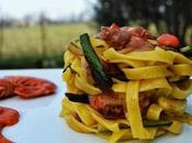 Lasagnette tagliolini gamberetti zucchine
