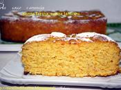 Torta cocco arancia senza farina, latticini
