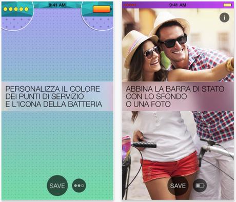 Screenshot 2014 01 31 17.45.44 583x500 Crea un nuovo eccezionale look per la barra di stato del tuo iPhone con lApp Barra di Stato Colorata