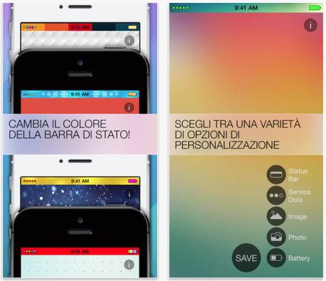Screenshot 2014 01 31 17.45.26 581x500 Crea un nuovo eccezionale look per la barra di stato del tuo iPhone con lApp Barra di Stato Colorata