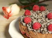 Torta mousse cioccolato fondente zenzero, lamponi: Re-cake
