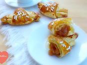 Croissants Doce Nêsperas Canela Cornetti Marmellata Nespole Cannella