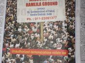 Manifestanti? Benvenuti Jantar Mantar. pubblicita' shock della polizia Delhi