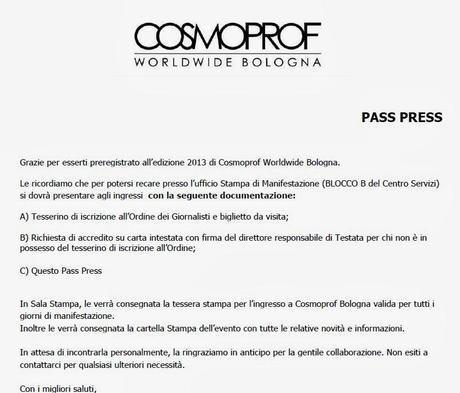 Cosmoprof 2014, come fare per partecipare come blogger