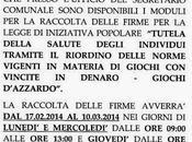 Comincia Nazzaro raccolta firme legge Iniziativa Popolare contro gioco d'azzardo. breve anche Martino Sannita