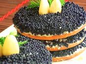 Antipasto formaggio philadelphia caviale nero mandorle